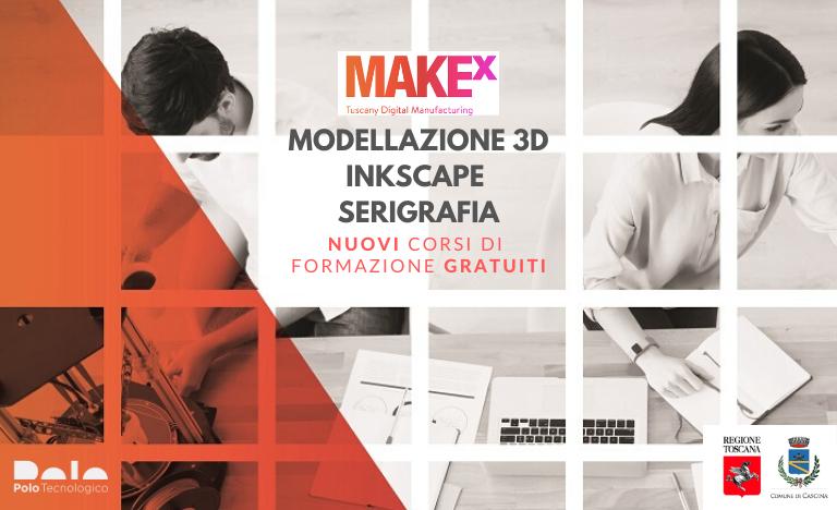 Corsi gratuiti di Modellazione 3D, Inkscape, Serigrafia