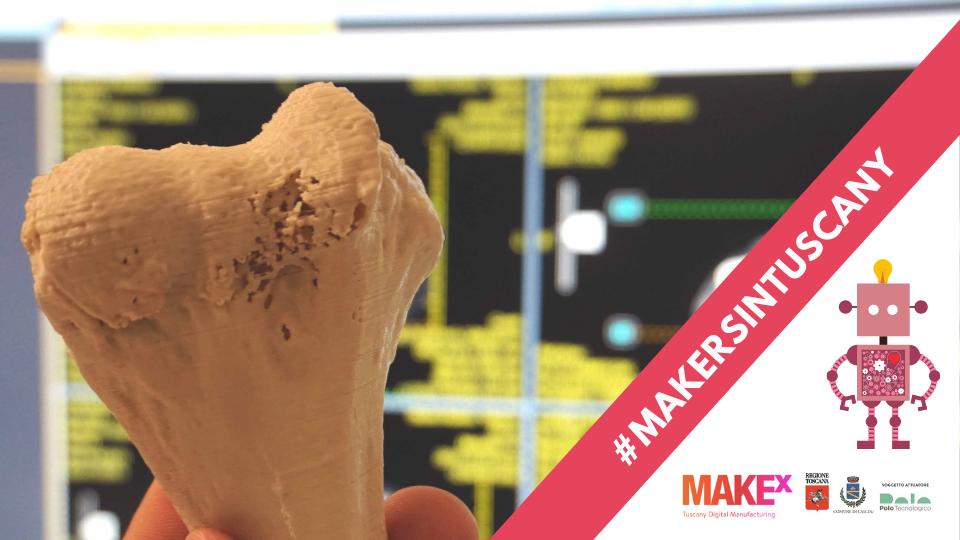 ricostruzione 3D di un osso realizzata da Maker House Medical