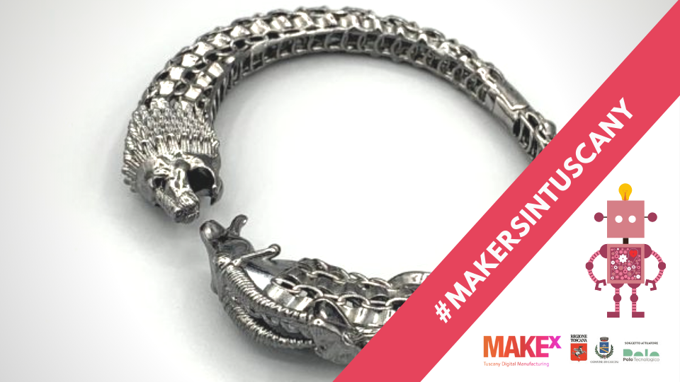 gioiello realizzato da Tadà Jewels mediante la prototipazione e la stampa 3D
