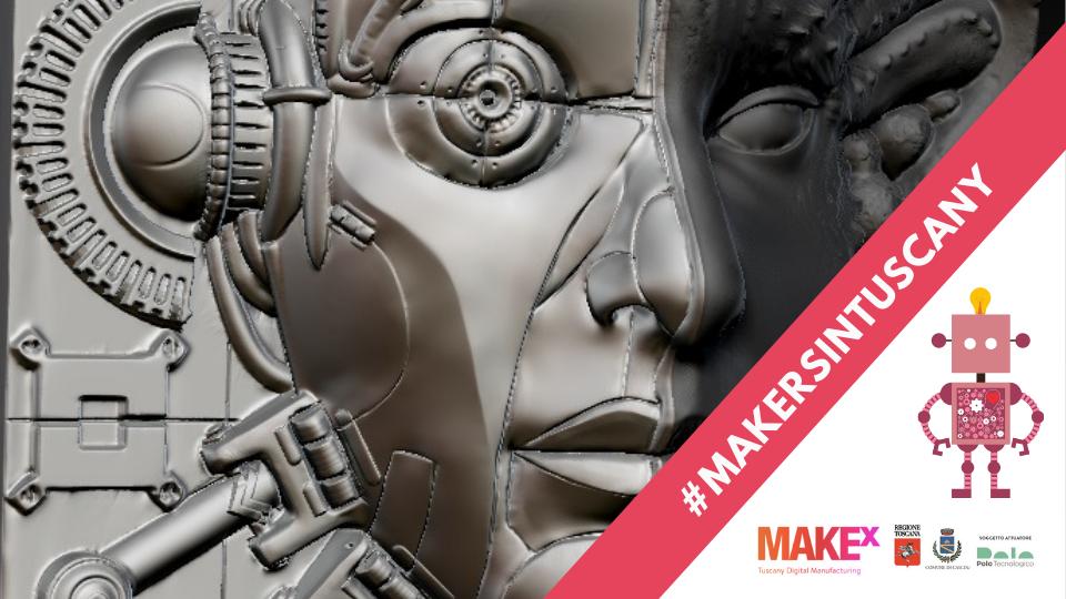 Maschera scenografica modellata e stampata in 3D da I.M.A. Italian Magic Artists Sfx Studios